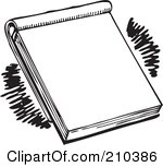Pad clipart black and white.