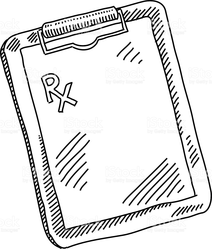 Prescription Pad Drawing stock vector art 501339366.