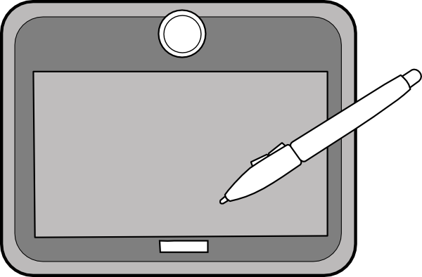 Drawing Tablet Clip Art.