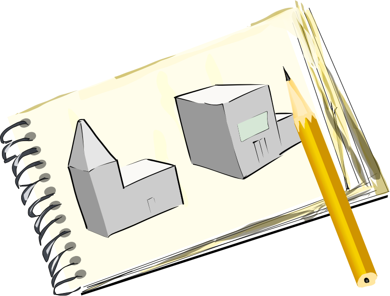 Drawing pad clipart.