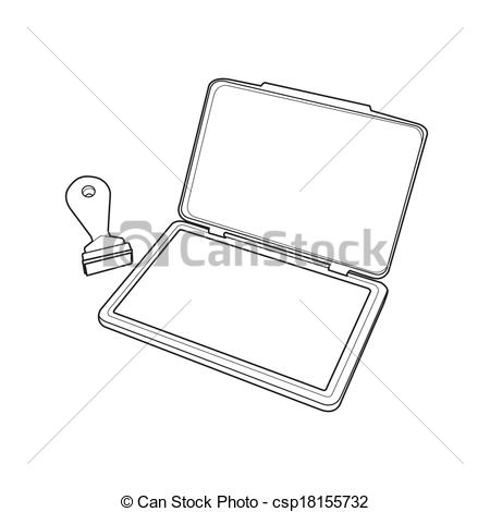 Ink pad clipart.