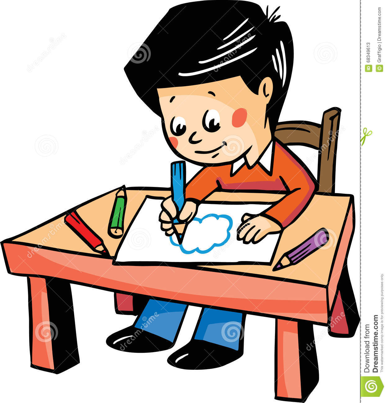 Boy Drawing Clipart.