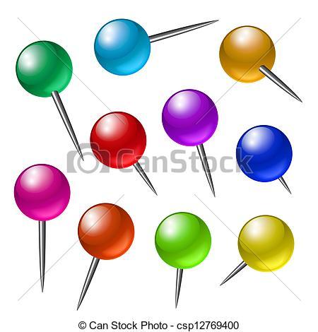 Drawing pins clipart #13
