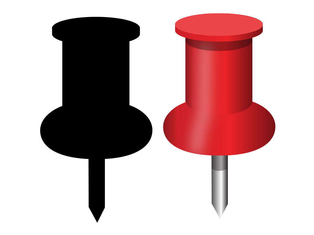 Drawing pins clipart #12