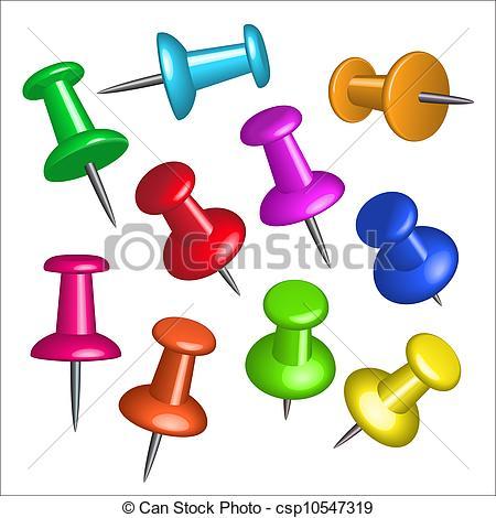 Push pins Clipart and Stock Illustrations. 7,578 Push pins vector.