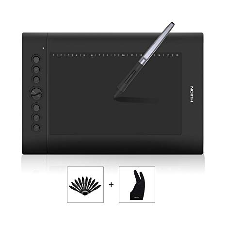 Huion H610PRO V2 10 x 6.25 inch Graphics Drawing Tablet with 8192  Battery.