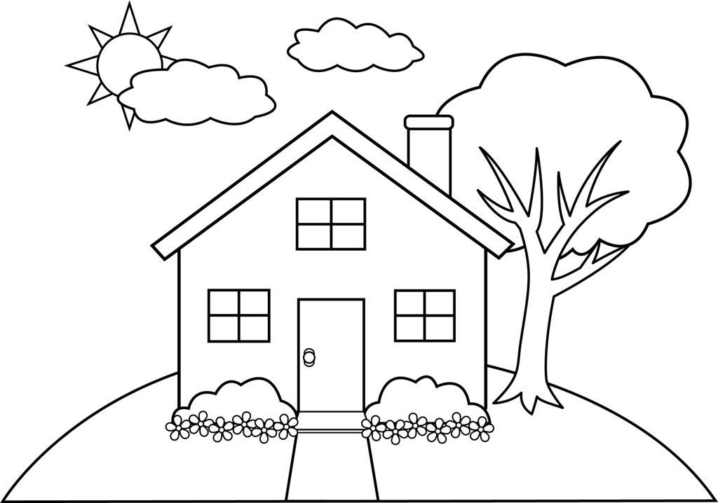 Simple Line Drawing Of House at GetDrawings.com.