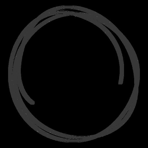 Hand drawn circle.