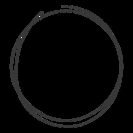 Hand drawn circle scribble.