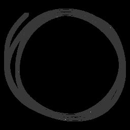 Hand drawn circle doodle.