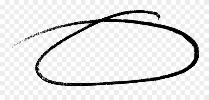 Drawn Circle White Png.