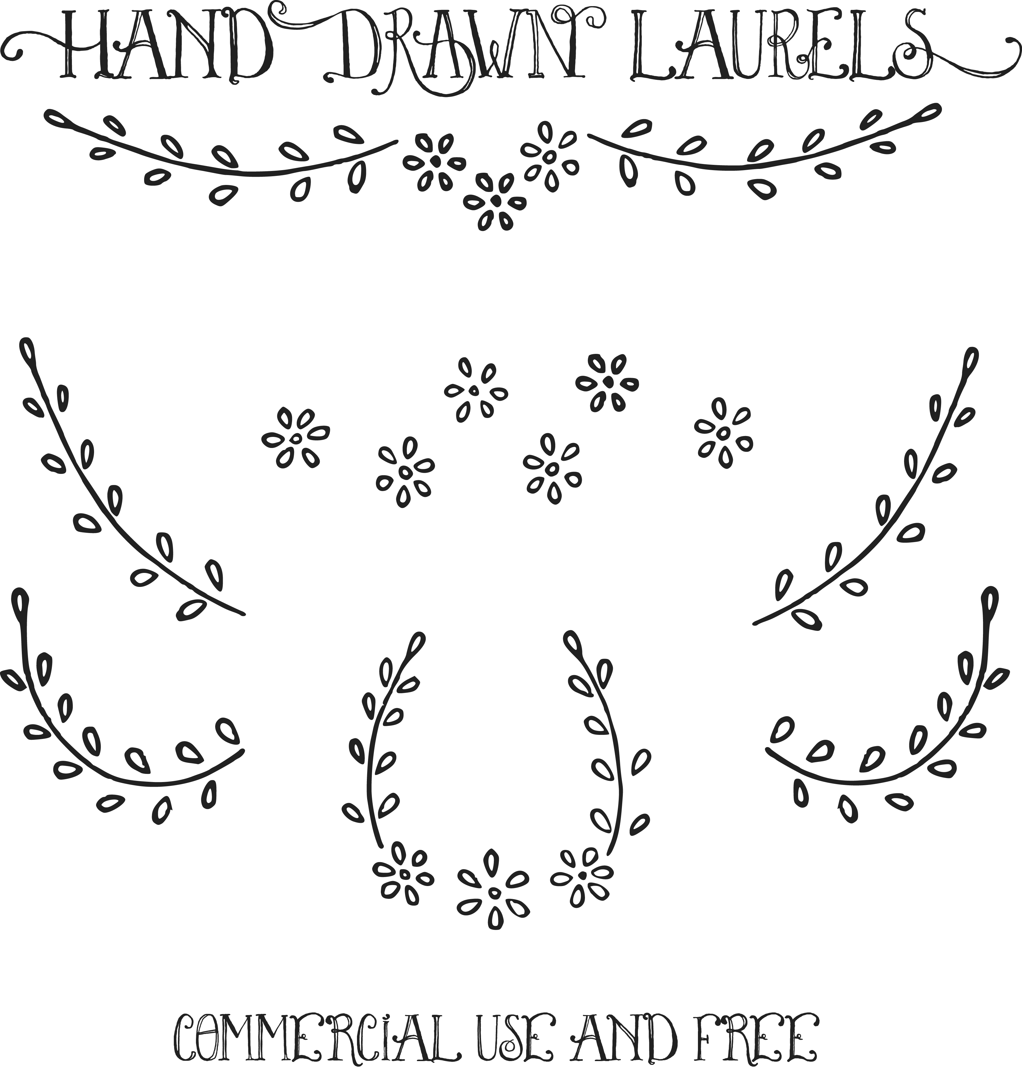 Daisy Hand Drawn Clipart.
