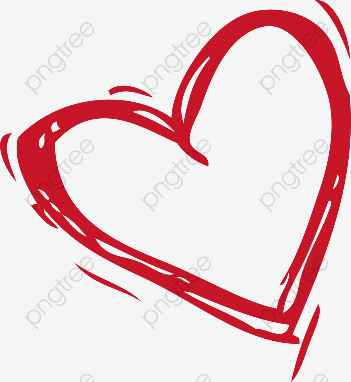 Hand Drawn Heart Shaped, Ink, Heart Shaped, Heart Brush PNG and.