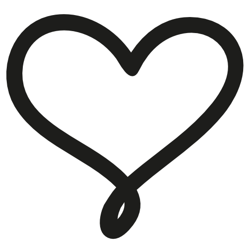 Love hand drawn heart symbol outline free vector icons designed by.
