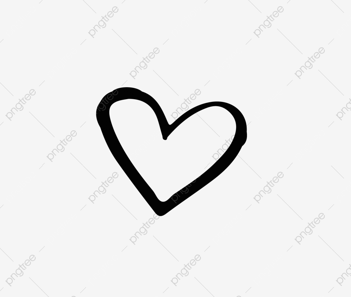 Hand Drawn Heart Shaped Vector, Heart Outline, Love Heart, Heart.