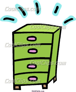 Chest Of Drawers Clipart.