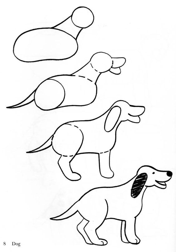 Drawing a dog  Also other clip art animals.