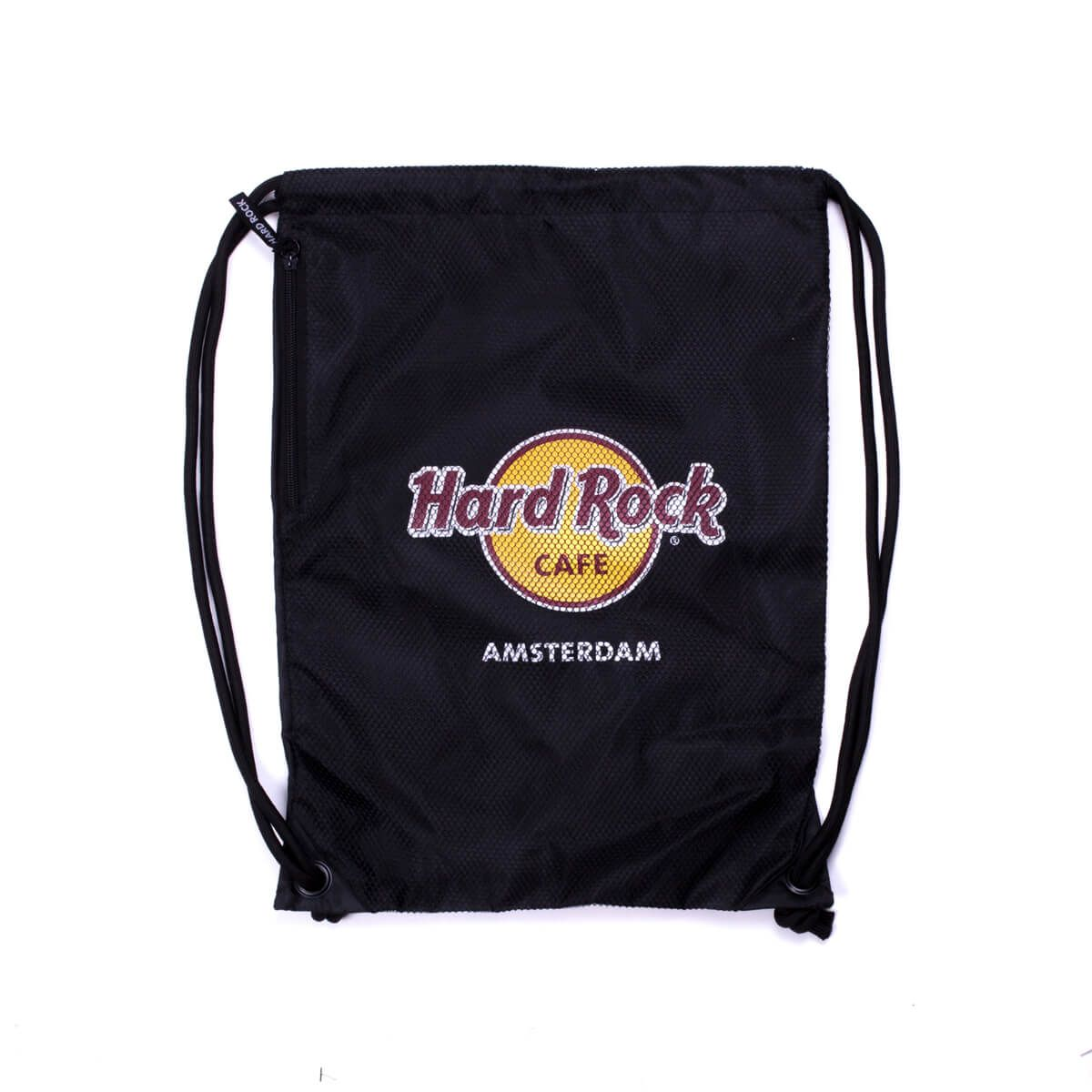 Hard Rock Logo Drawstring Backpack.