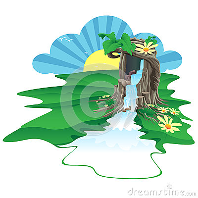 Dry Nur Waterfall Stock Illustrations, Vectors, & Clipart.