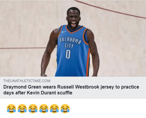 OKLAHOM CITY THEUNATHLETICTAKECOM Draymond Green Wears Russell.