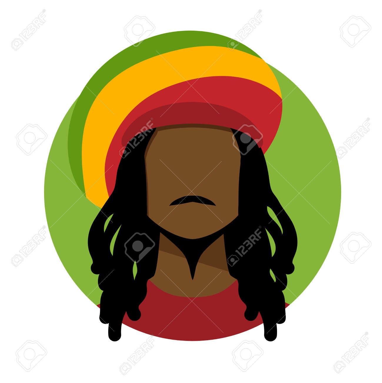 Dread head sitting clipart.