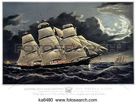 Stock Photography of 1850S Clipper Ship Dreadnought.