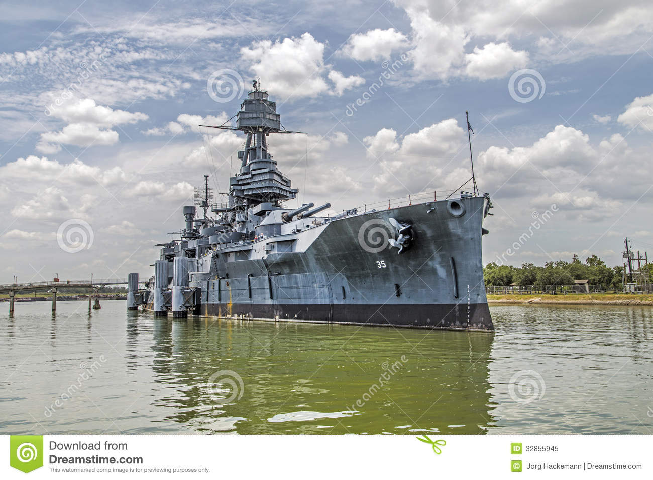 The Famous Dreadnought Battleship Royalty Free Stock Photo.