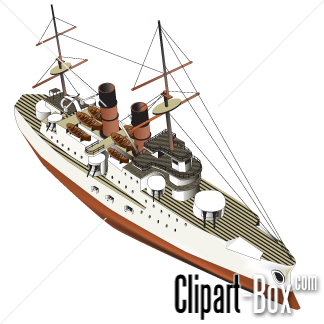 CLIPART IRONCLAD WARSHIP.
