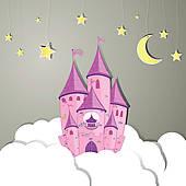 Clipart of Vector Princess Dream Castle k10294940.