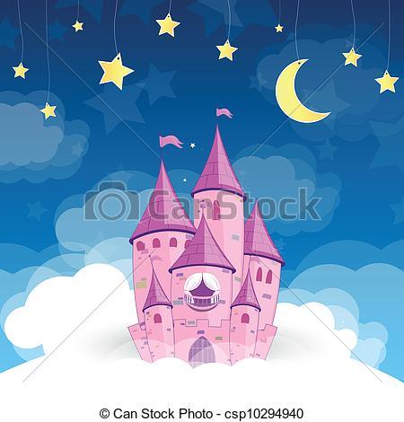 EPS Vector of Vector Princess Dream Castle.