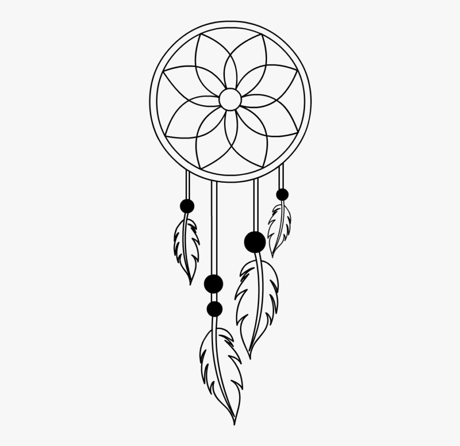 Clip Art Small Drawing Dreamcatcher.