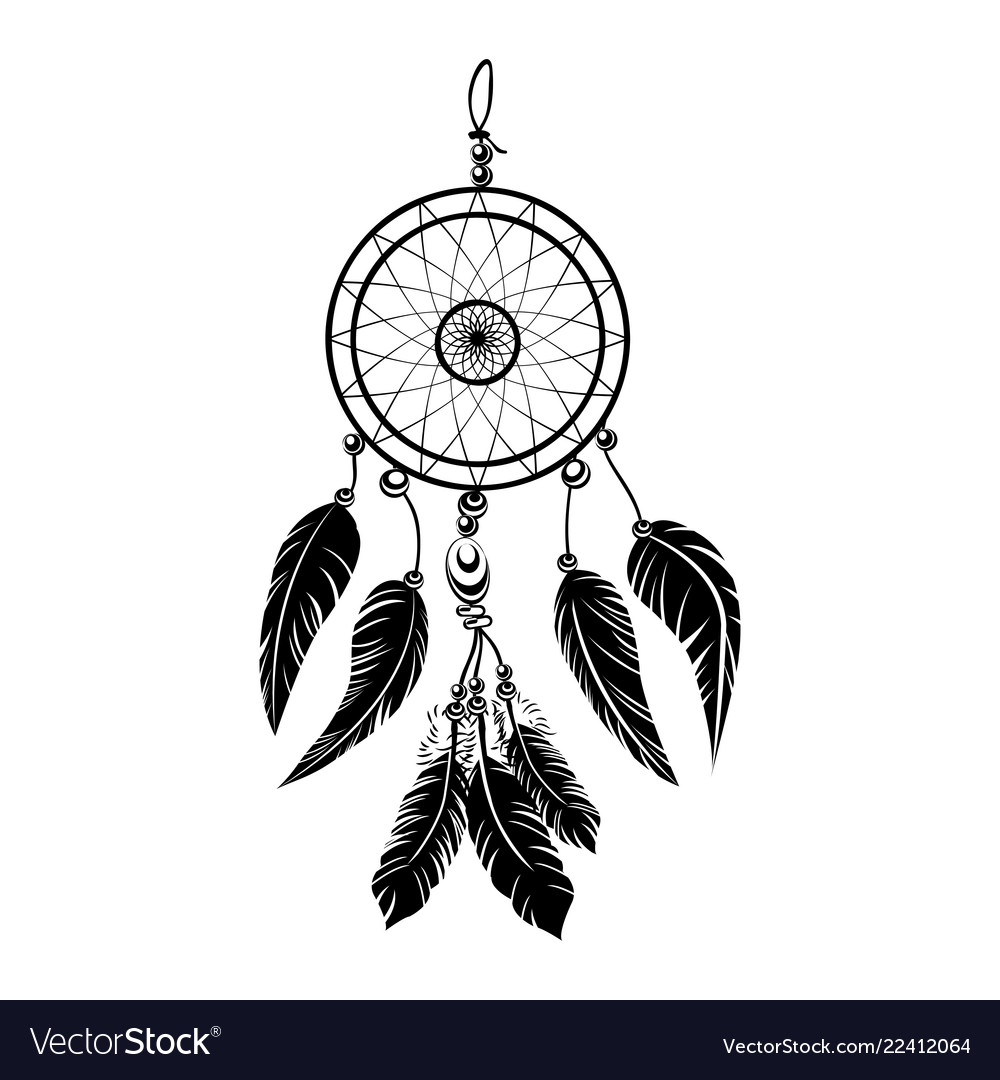 Indian black dream catcher.