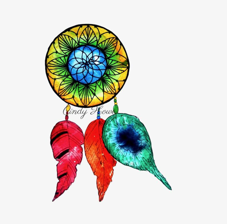 Dream Catcher, png file, transparent png file, png, digital art, instant  download, clipart, dream catchers, digital png, feathers.