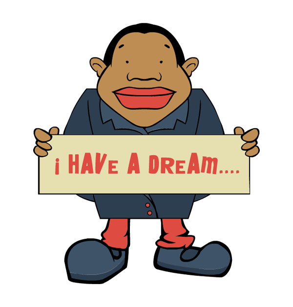 clip art king martin luther day text i have a dream cartoon.