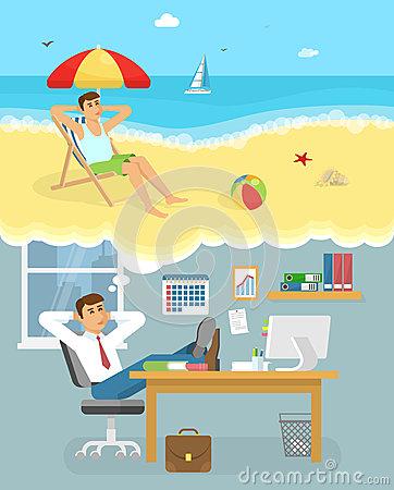 Dream Holiday Dolphin Stock Illustrations.
