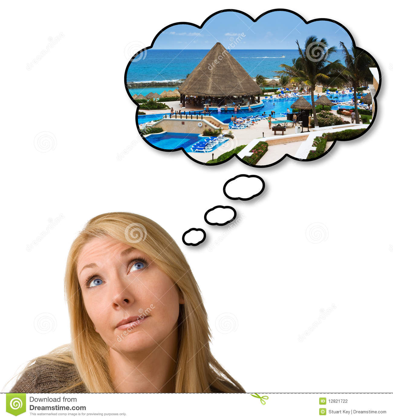 Dream vacation clipart.