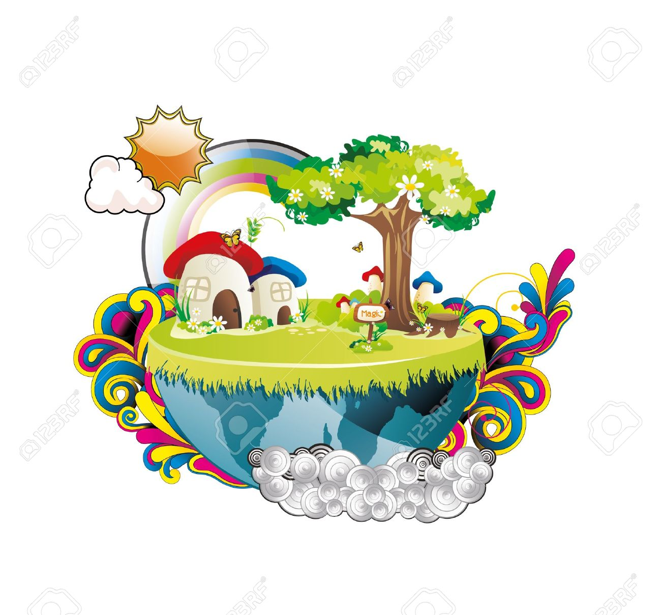 Landscape Planet Fantasy Royalty Free Cliparts, Vectors, And Stock.