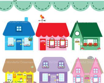 Barbie dream house clipart.
