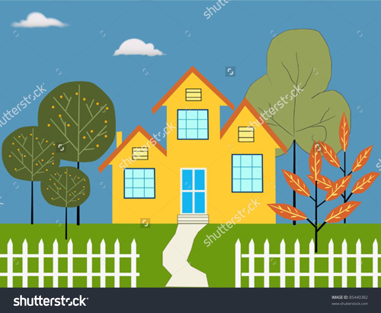 Dream House Illustration Stock Vector 85440382.