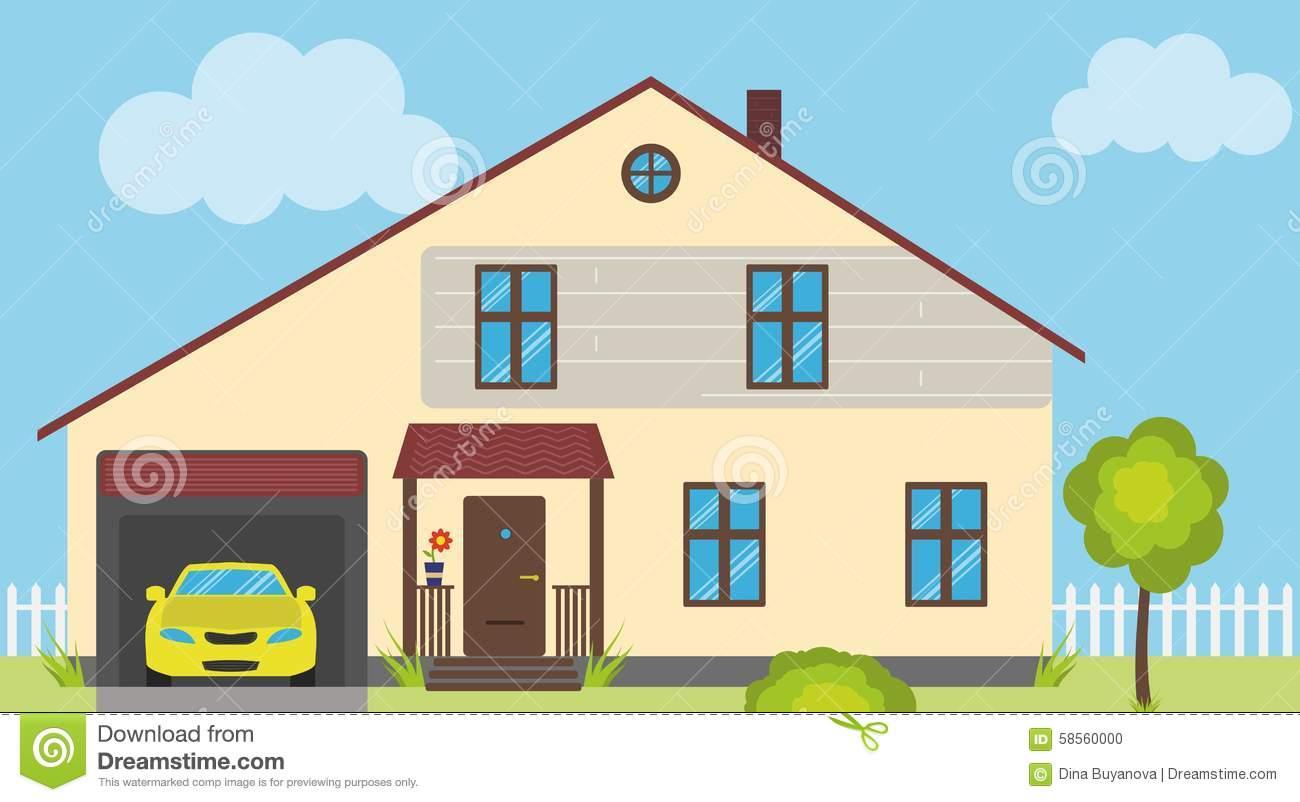 House american dream clipart.