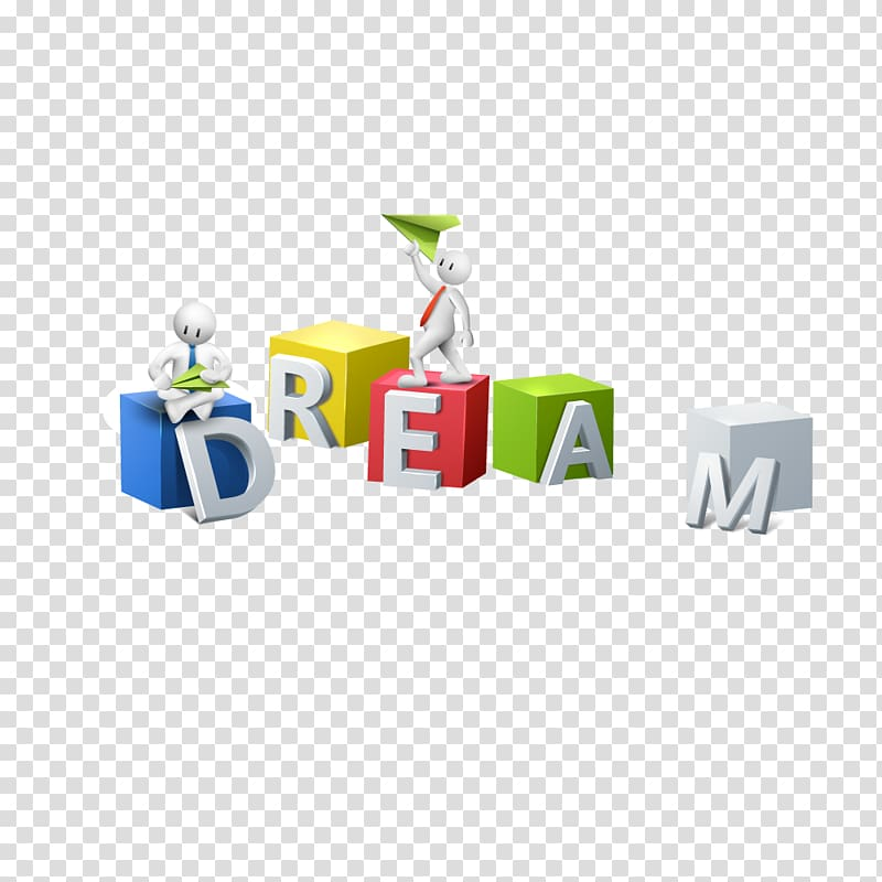 3D computer graphics Arrow Icon, dream transparent.
