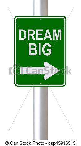 Clipart of Dream Big.