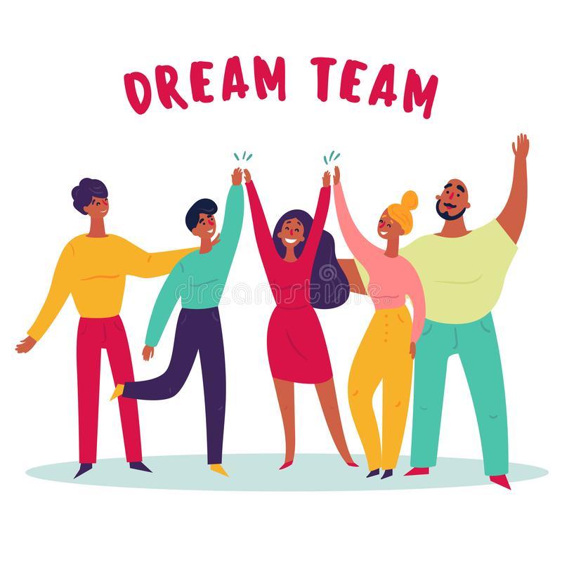 Dream Team Stock Illustrations.