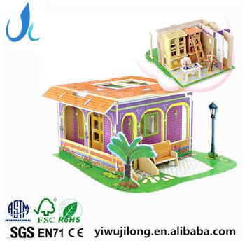 3d jigsaw puzzle adult children dream villa wooden creative DIY.