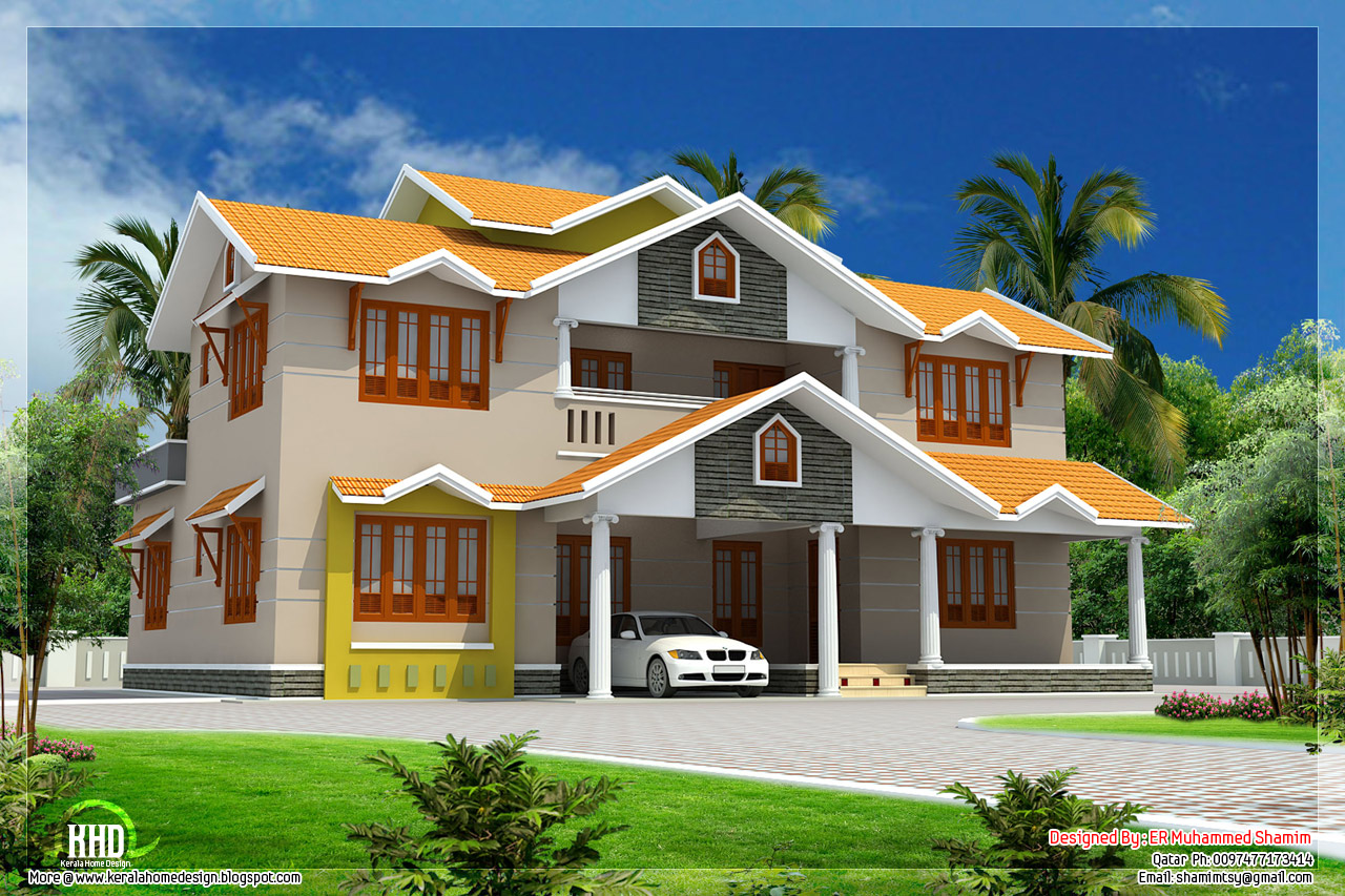 Dream house drawing design clipart.