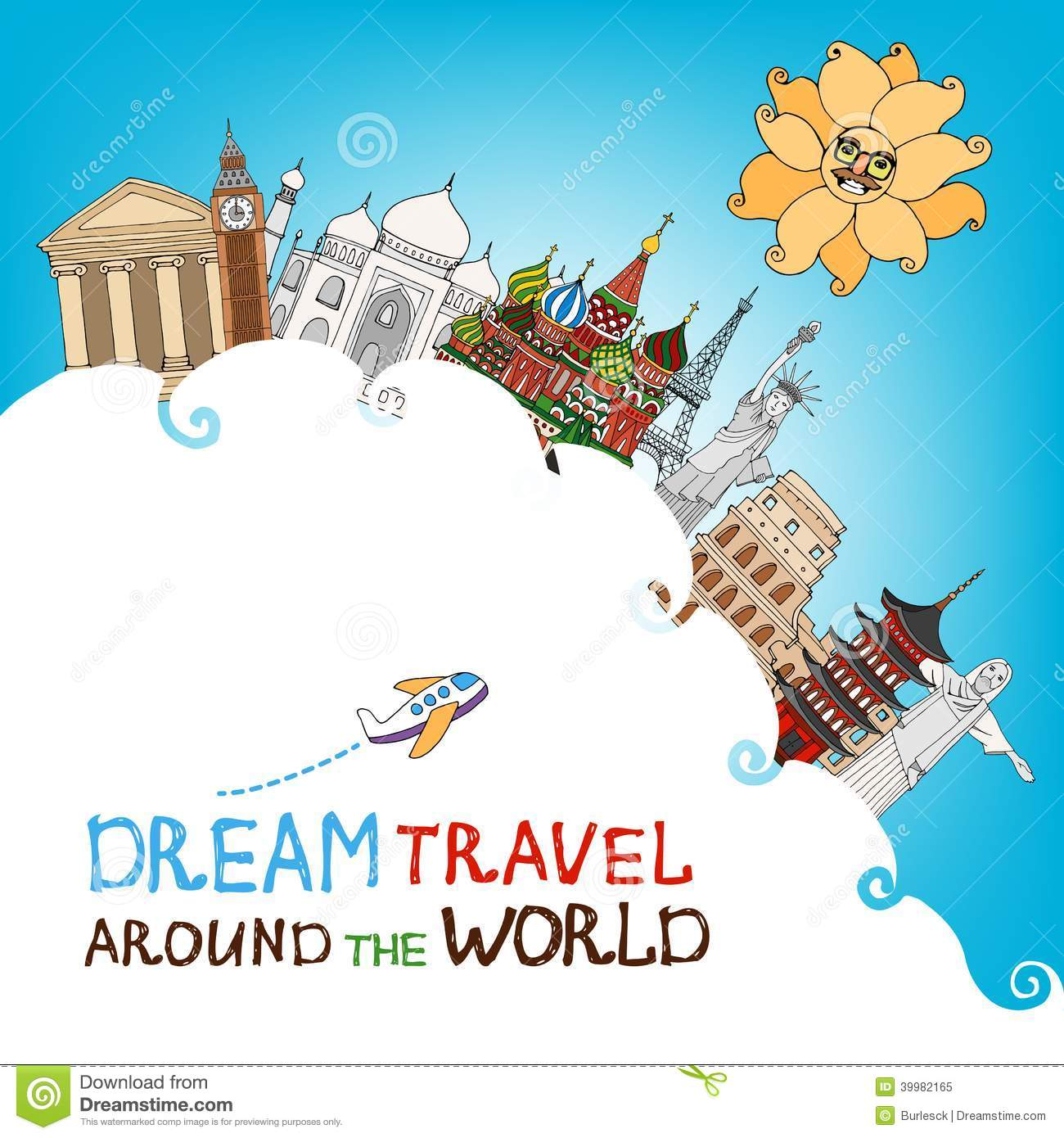Travel Around The World Clipart Moscow Stock Illustrations Vectors.