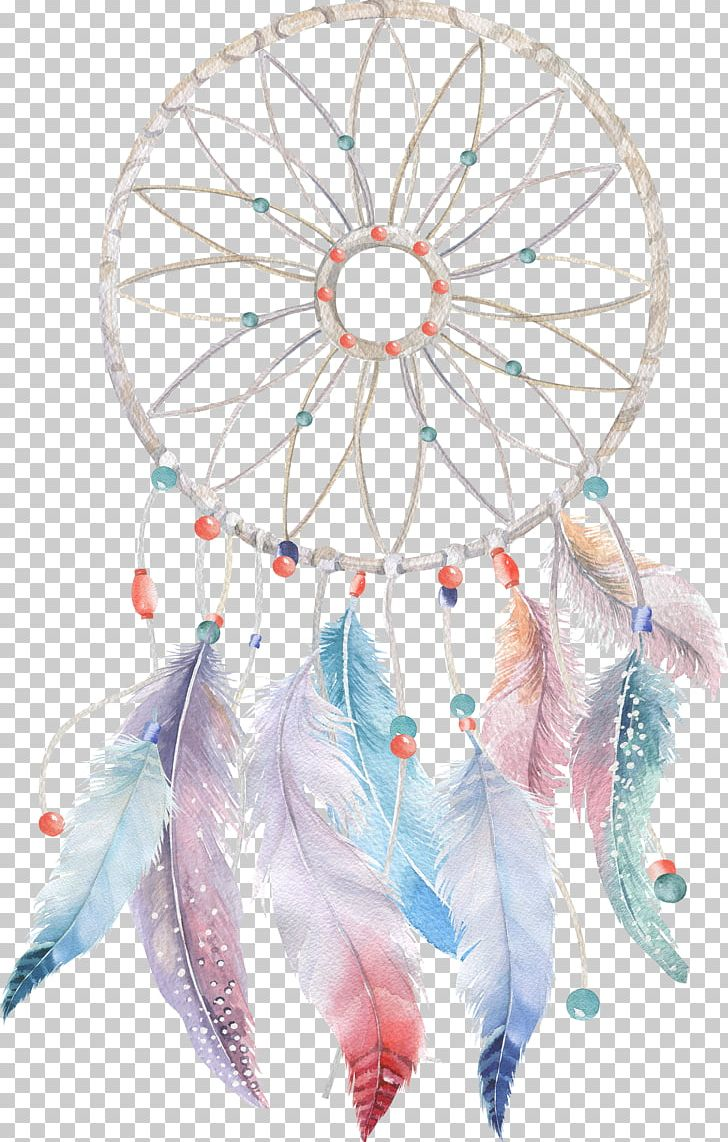 Dreamcatcher Watercolor Painting Boho.
