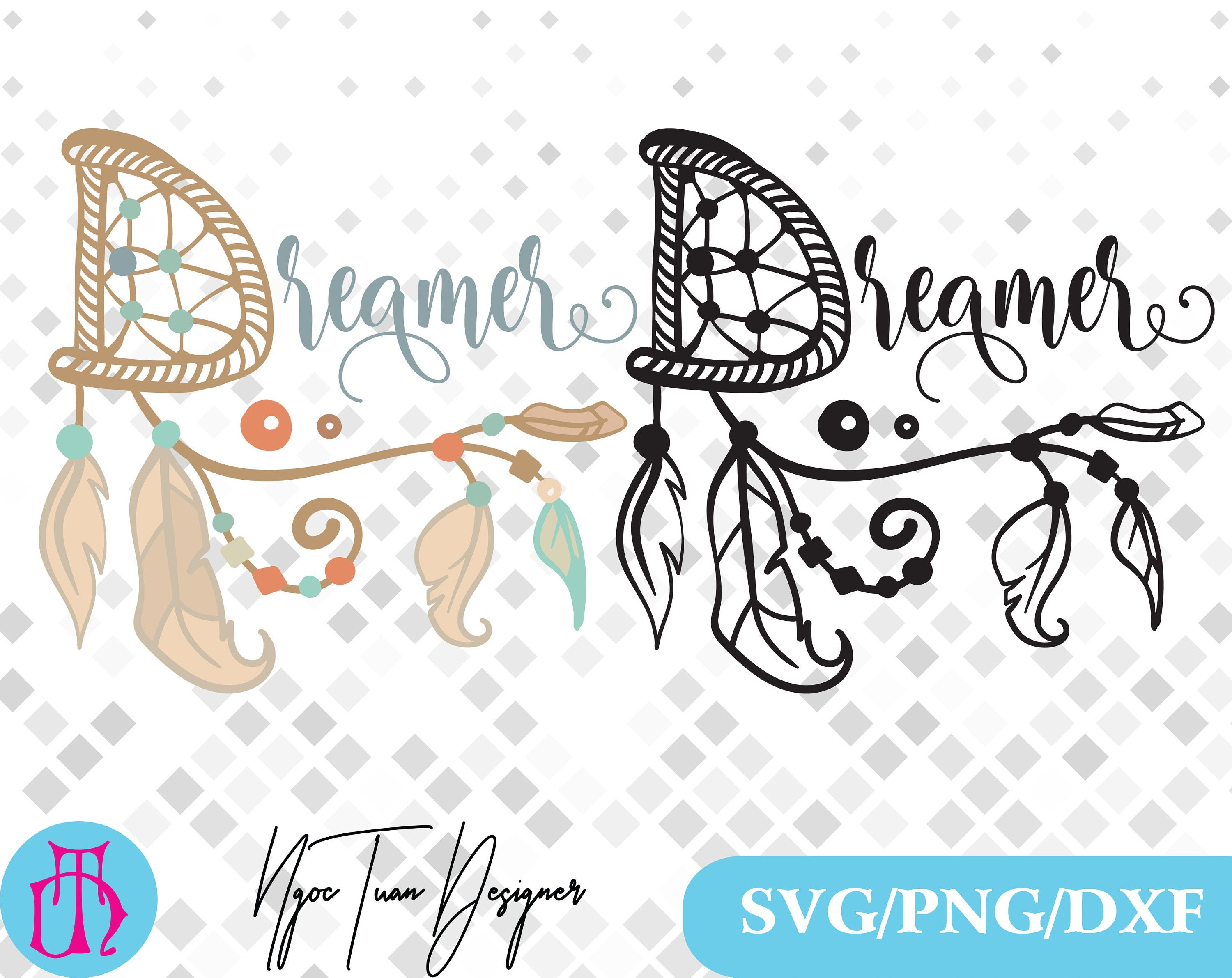 Boho svg,png,dxf / dreamer svg/ dreamer clipart for  Print,Design,Silhouette,Cricut and any more.