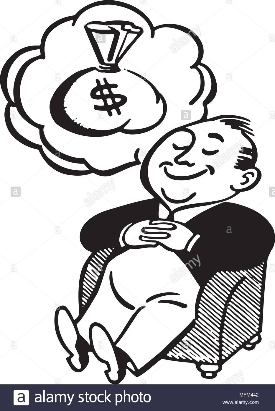 Man Dreaming Of Money.