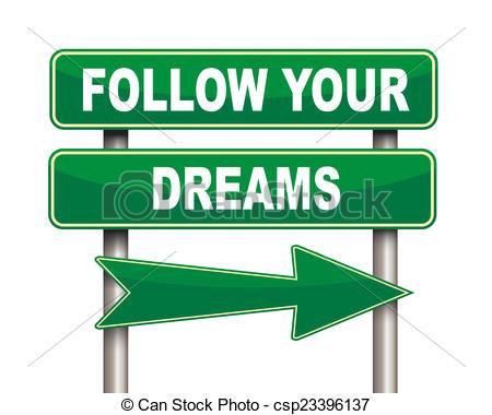 Follow your dreams clipart.
